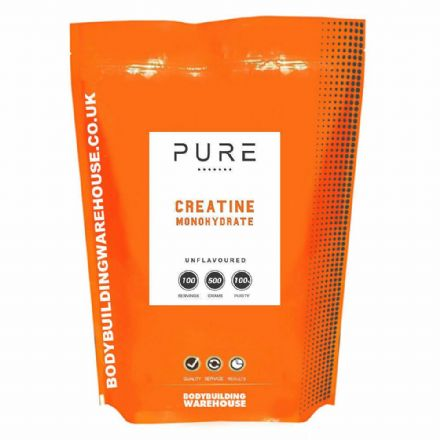 Pure Micronised Creatine Monohydrate Powder; 250g-1kg; Bodybuilding Warehouse